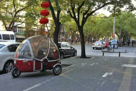 A cute bubble bike.